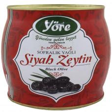 Вяленые маслины натуральные 1.5 кг калибровка MEGA (231-260 шт/кг) железная банка YORE