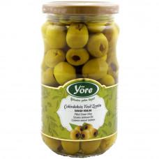 Оливки без косточек 337 гр калибровка Экстра (231-260 шт/кг) YORE стеклянная банка