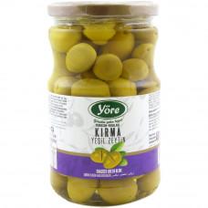 Оливки ломкие 700 гр калибровка Мега (141-160 шт/кг) YORE стеклянная банка