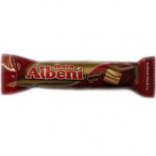 ALBENI Батончик с вафлями и карамелью покрытый молочным шоколадом 37 г ULKER