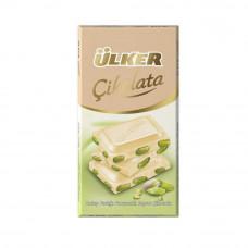 Белый шоколад с фисташками 77 гр ULKER