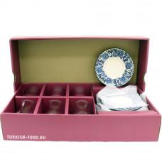 Набор для чаепития: армуд-стакан и блюдца (цветок) для 6 персон
