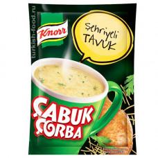 Чашка суп куриный с ячменной вермишелью 17 гр KNORR