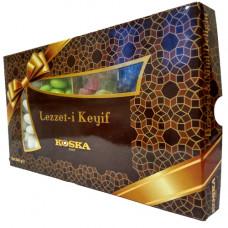 Драже ассорти миндаль, фисташки, мини лукум и мини лукум в шоколаде KOSKA 240 гр