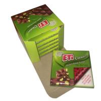 ETI шоколад с целыми фисташками 60 гр (подарочный)