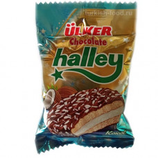 HALLEY Кокос, сэндвич-печенье (Бакус) покрытое молочным шоколадом с маршмэллоу 30 гр ULKER