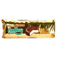 Halley Сэндвич-печенье (Бакус) покрытое молочным шоколадом с маршмэллоу 300 гр ULKER