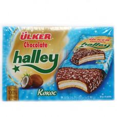 HALLEY Кокос, сэндвич-печенье (Бакус) покрытое молочным шоколадом с маршмэллоу 30 гр * 8 шт ULKER