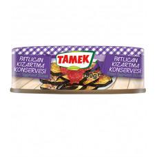 Консервированные баклажаны TAMEK 190 гр, жареные с чесноком в томатном соусе