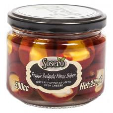 """Красный перец """"Черри"""" фаршированный сыром (пастеризованные) SOSERO 290 г"""