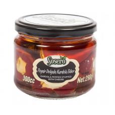 """Красный перец """"Кардола"""" фаршированный сыром (пастеризованные) SOSERO 290 г"""