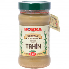 Кунжутная паста из неочищенных семян кунжута (тахин темный) KOSKA 300 гр в стекле