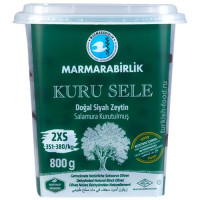 """Вяленые маслины калибровка 2XS 800 гр, корзинные, сухие, серия """"Kuru Sele"""", MARMARABIRLIK"""