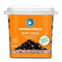 """Вяленые маслины калибровка 3 XS 400 гр. (ферментированные в рассоле """"саламура""""), масляные, серия корзины (SEPET SERISI), MARMARABIRLIK"""