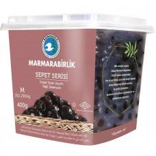"""Вяленые маслины калибровка M 400 гр, (ферментированные в рассоле """"саламура""""), масляные, серия корзины (SEPET SERISI), MARMARABIRLIK"""