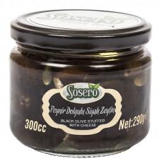 Маслины фаршированные сыром (пастеризованные) SOSERO 290 гр
