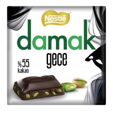 DAMAK GECE тёмный шоколад с фисташкими 65 гр (55% какао)