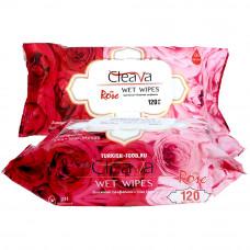 Влажные салфетки CLEAVA ROSE 120 шт