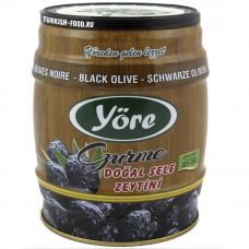 Вяленые маслины натуральные слабосоленые корзинные 750 гр калибровка GOLD (321-380 шт/кг) железная банка YORE DOGAL SELE