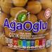 Оливки надрезанные с косточкой, (чизик) AGAOGLU 720 гр калибровка 201-230