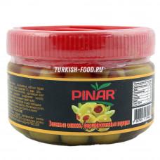 Оливки фаршированные болгарским перцем PINAR 200 гр в удобной пластиковой банке