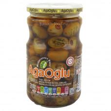 Оливки на гриле фаршированные сушенными помидорами AGAOGLU 720 гр