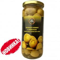 Оливки фаршированные лимонами 480 гр DELI VEGGY