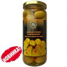 Оливки фаршированные апельсинами 480 гр DELI VEGGY
