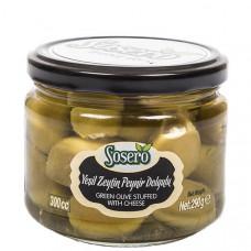 Оливки фаршированные сыром (пастеризованные) SOSERO 290 гр
