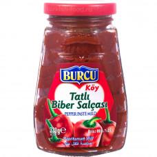 Перцовая паста BURCU 320 гр, в экстра толсто-стенной стеклянной банке