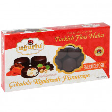 Пишмание с лесными орешками покрытое черным шоколадом UGURLU 200 гр