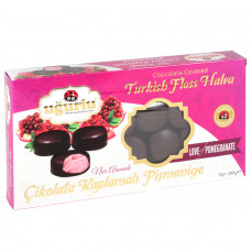 Пишмание со вкусом граната покрытое черным шоколадом UGURLU 200 гр