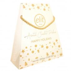 Подарочный набор шоколадных конфет ассорти ELIT HAPPY HOLIDAYS 200 гр (Белая)
