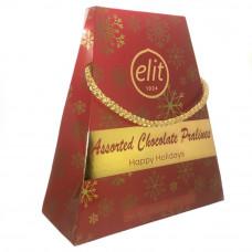 Подарочный набор шоколадных конфет ассорти ELIT HAPPY HOLIDAYS 200 гр (Красная)