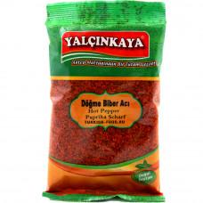 Пул бибер кованный 70 гр YALCINKAYA, красный перец мелкого помола, масляный, острый