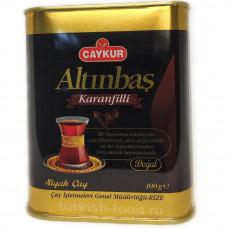 Турецкий чай CAYKUR ALTINBAS с гвоздикой 100г, в жестяной банке