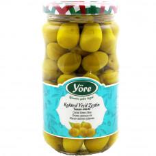 Оливки коктейльные 365 гр калибровка Экстра (231-260 шт/кг) YORE стеклянная банка