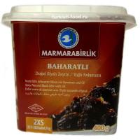 Натуральные вяленые маслины, корзинные-маслинные с приправой MARMARABIRLIK 400 гр размер 2XS