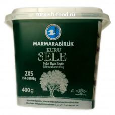 """Натуральные вяленые маслины, корзинные-сухие """"kuru sele"""" MARMARABIRLIK 400 гр размер 2XS"""