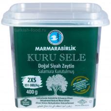 """Вяленые маслины калибровка 2XS 400 гр, корзинные, сухие, серия """"Kuru Sele"""", MARMARABIRLIK"""