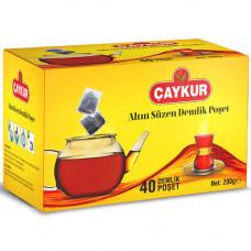 Чай пакетированный для чайника ЧАЙКУР 200 гр (черный чай - 40 пакетиков)
