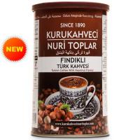KURUKAHVECI NURI TOPLAR 250 г Турецкий кофе молотый с фундуком, обжаренный на дровах