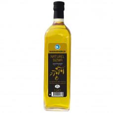 Оливковое масло MARMARABIRLIK 1л первый холодный отжим (Extra Virgin) стеклянная бутылка, прозрачная бутылка