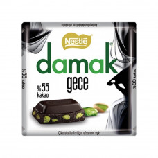 Тёмный шоколад с цельными фисташками 65 гр NESTLE damak 55%