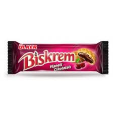 BISKREM 90 гр, печенье с шоколодно-вишневой начинкой.