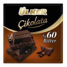 ULKER тёмный шоколад (биттер 60%) 60 гр