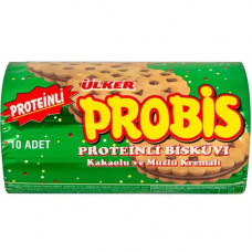 PROBIS сэндвич-печенье с экстра белком с начинкой из какао и банана 280 гр ULKER (12 гр белок)