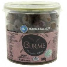 Вяленые маслины Гурман (Премиум), калибровка M (261-290 шт/кг) 400 гр, стекло-пластик MARMARABIRLIK