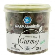 Вяленые маслины Гурман (Премиум), калибровка XS (321-350 шт/кг) 400 гр, стекло-пластик MARMARABIRLIK