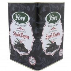 Вяленые маслины натуральные 4кг калибровка JUMBO (261- 290 шт/кг) железная банка YORE